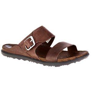 Merrell Around Town Leather Buckle Slide Sandals